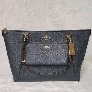 Coach Set Signature Leather Designer Purse Bag +